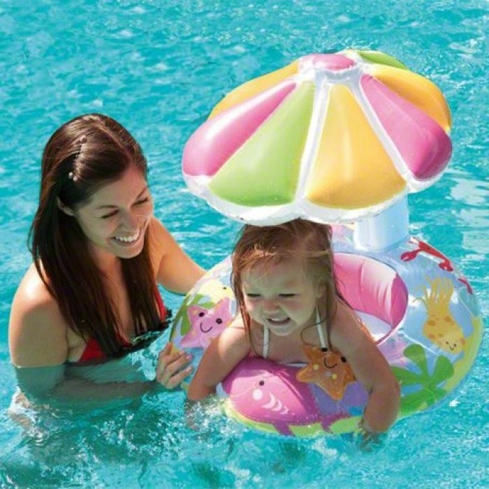 Intex fish and friends baby float best buy for Intex pool koi pond