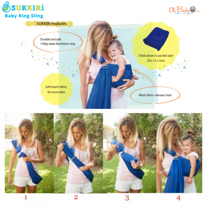 SUKKIRi Breathable Ring Sling