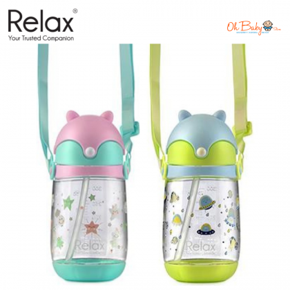 Relax 350ml Tritan Straw Bottle D7535