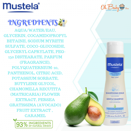 Mustela Gentle Shampoo 200ml (Normal Skin)