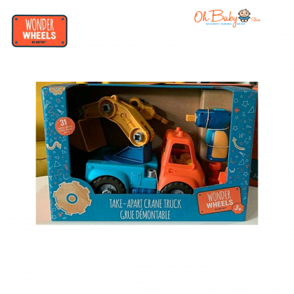 Battat Wonder Wheels Take Apart Crane Truck