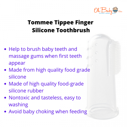 Tommee Tippee Finger Silicone Toothbrush