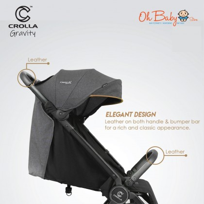 Crolla Gravity The Finest Auto-fold Baby Stroller with Free Gift