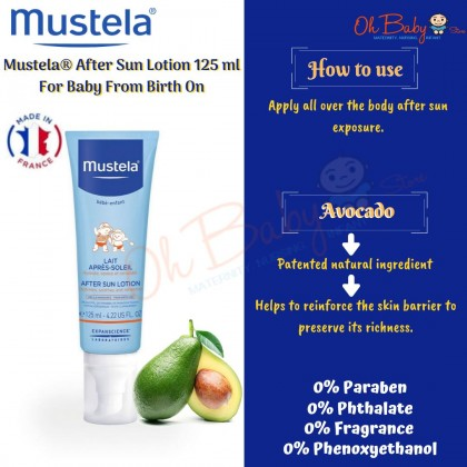 Mustela After Sun Lotion 125ml for Baby(0m+)