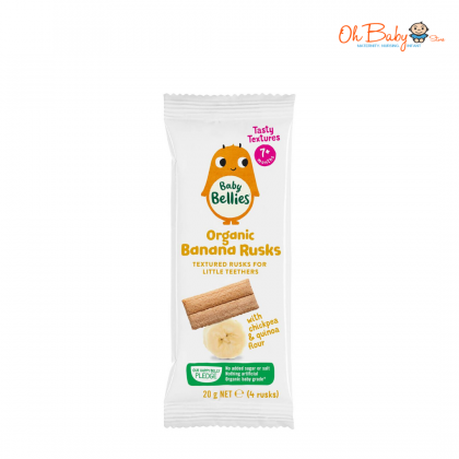 Little Bellies Organic Rusks - Banana 20g