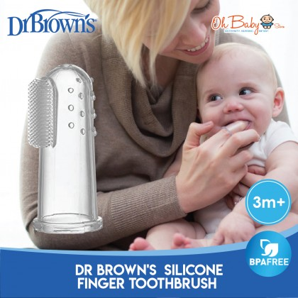 Dr Brown's Silicone Finger Baby Toothbrush with Case