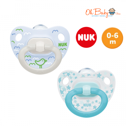 NUK Silicone Soother Happy Days 0-6m / 6-18m Pacifier 2 Pcs
