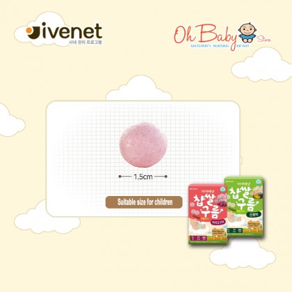 Ivenet Bebe Korean Traditional Cookie 20g (Autumn Squash)  for Baby 6 months+
