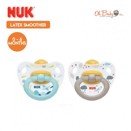 NUK Latex Soother Happy Kids 0-6m / 6-18m / 18-36m Pacifier 2 Pcs