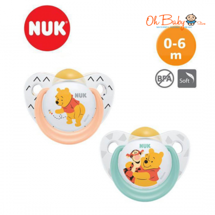 NUK Disney Sleeptime Latex Soother 0-6m (2 Pieces)