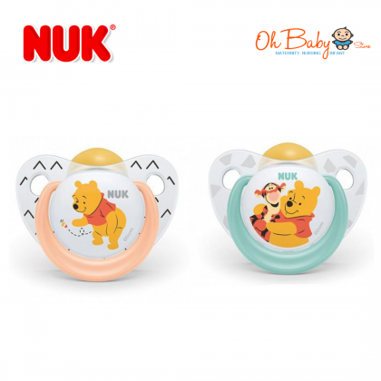 NUK Disney Sleeptime Latex Soother - 6-18m (2 Pieces)