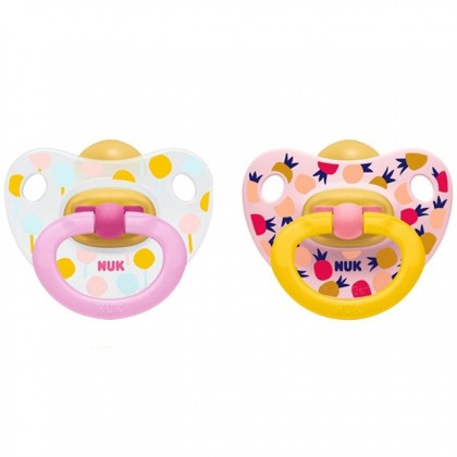 NUK Printed Latex Soother 6-18m (2 Pcs)