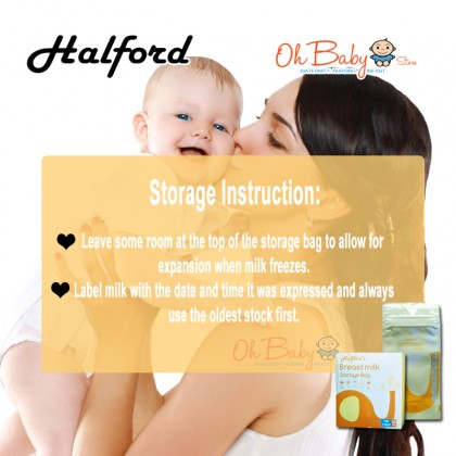 Halford's Breast milk Storage Bag 25 pc (7oz/210ml)