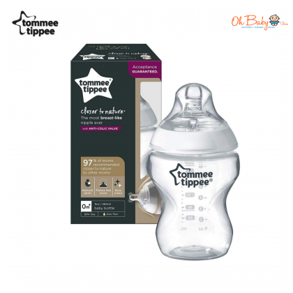 Tommee Tippee Closer to Nature Bottle (150ml/5oz) (260ml/9oz) BPA Free