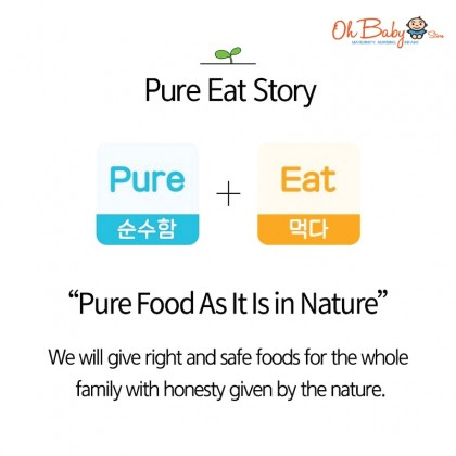 Naebro Pure-Eat Finger Organic Ring - Purple Sweet Potato, Sweet Pumpkin, Strawberry Apple, Spinach