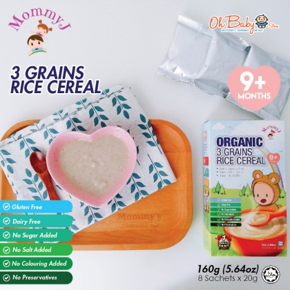 MommyJ Organic Rice Cereal 3 Grains 9+months/Japonica 6+months 160g