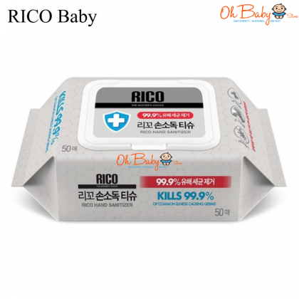 Rico Baby Hand Sanitizer Wipes 50s