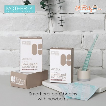 Mother-K Sterilized Tooth/Mouth Wipes (30pcs)