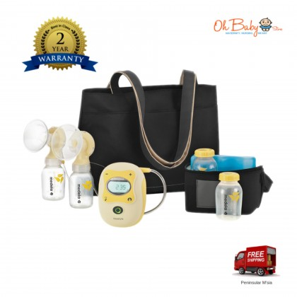 Medela Freestyle Double Electric Breast Pump with Calma Teat, Tote Bag & Cooler Bag Set