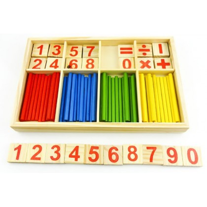 Colorful Wooden Learning Toys - Mathematical Wooden Stick