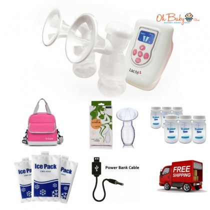 Lacte - Duet Double Electric Breastpump Package