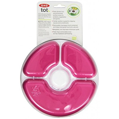 OXO Tot - Training Plate - Pink