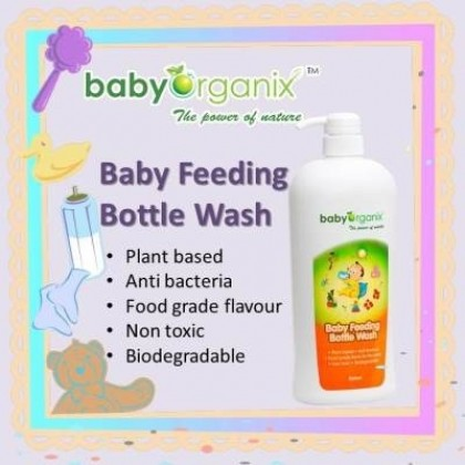 Baby Organix - Baby Feeding Bottle Wash 800ml