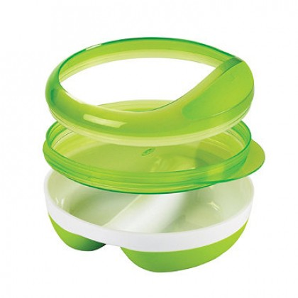 Oxo Tot - Divided Feeding Dish (Pink)