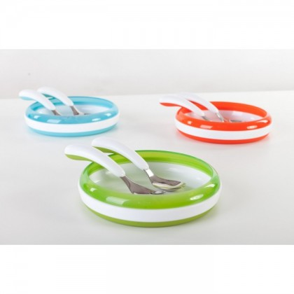 OXO Tot - Training Plate + Fork and Spoon Set