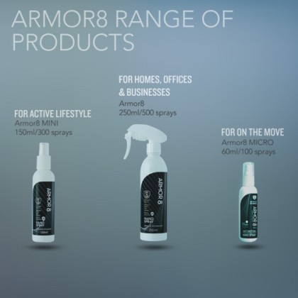 Armor8 - Long Lasting Anti-Bacteria Nano Spray 250ml