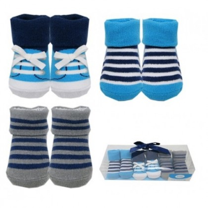 Luvable Friends - Socks Gift Set 0 - 9 Months (3 Pair)