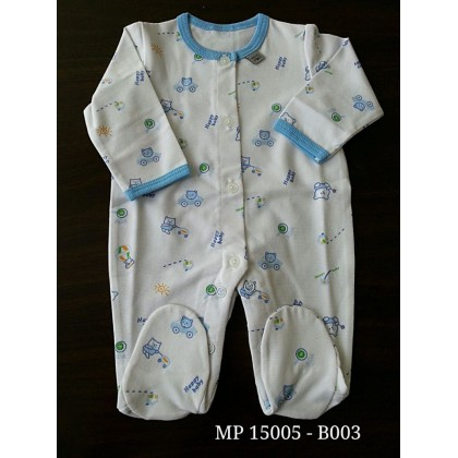 Mini Pod - Jumpsuit (Blue Bear)