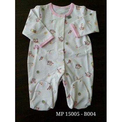 Mini Pod - Jumpsuit (Pink Bear)