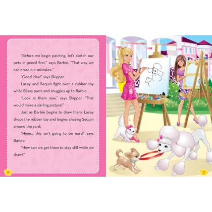 Barbie - A Painter Storybook with 3D Model Scene