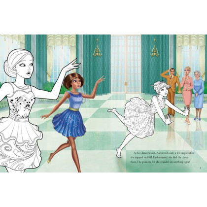 Barbie And The Secret Door: A Colouring Book with Self Inking Stamp