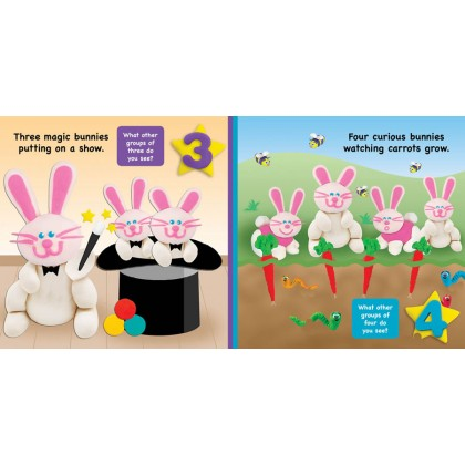 Play-Doh - Padded Board Book Counting Bunnies
