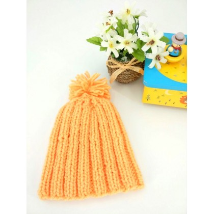 Handmade Crochet Baby Hat (Orange)