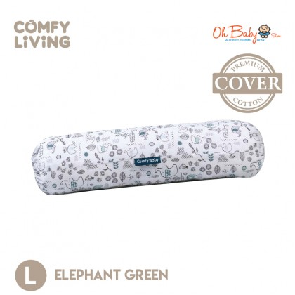 Comfy Baby Bolster Cover (L) - Blue / Green / Grey / Pink / Purple