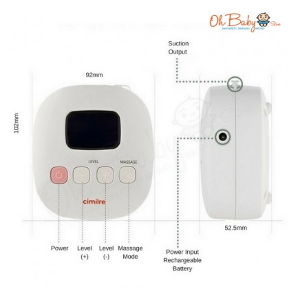 Cimilre - F1 Rechargeable Double Breast Pump Free Cimilre Hand Free Breast Shield (2 Set)
