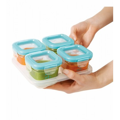 Oxo Tot - Glass Baby Block Freezer Storage Containers 4oz