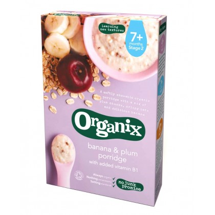 Organix - Banana and Plum Porridge 7m+ (200g)