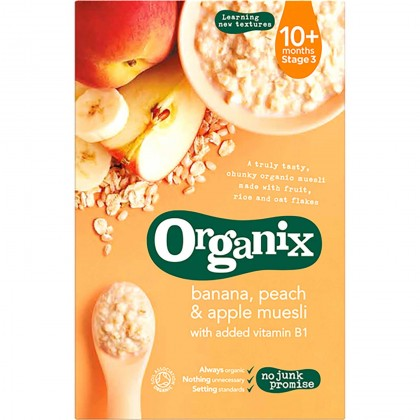 Organix - Banana, Peach & Apple Muesli 10m+ (200g)