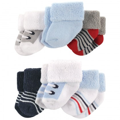 Luvable Friends - Terry Sock 6pk 0-3m
