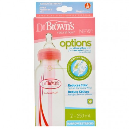 Dr.Brown's  Option Narrow Bottle Pink (250ml x 2)