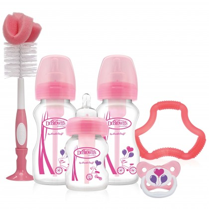 Dr.Brown's  Option Wide Neck Gift Set Pink