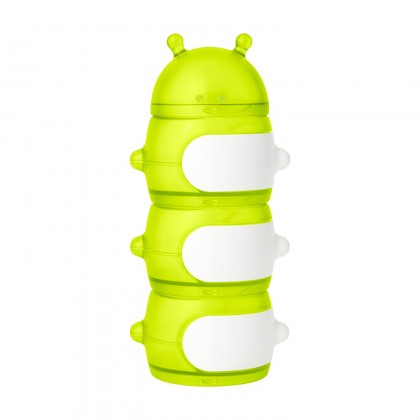 Boon - Stack Caterpillar Snack Container Green/White
