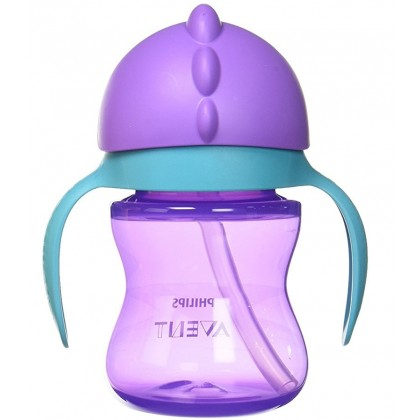Avent Bendy Straw Cup 7oz (Purple)