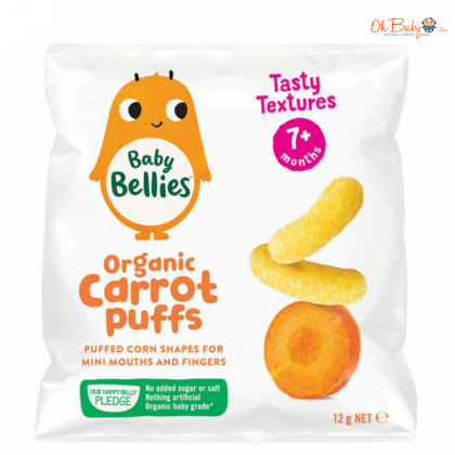 Little Bellies Baby Puffs Yummy Carrot 12g