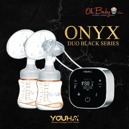 Youha Onyx Duo Black Series Breast Pump Package
